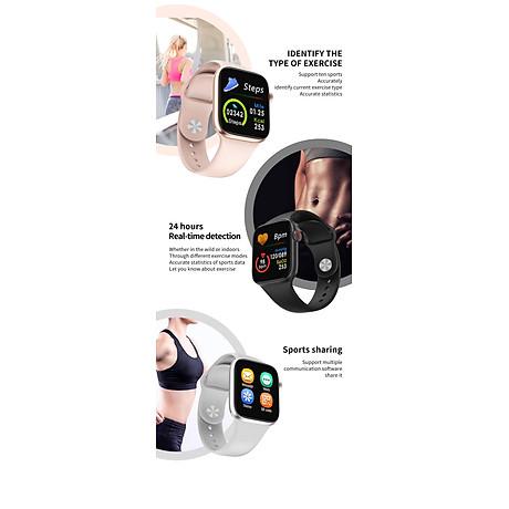 Đồng hồ thông minh Smart Watch theo dõi sức khỏe Watch 5 theo dõi nhịp tim vận động ( Giao màu ngẫu nhiên) 7
