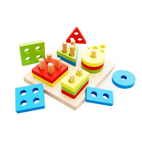 Combo 6 món đồ chơi gỗ an toàn cho bé- phát triển trí tuệ - Tă ng ke m theo bô đô chơi đâm ha i tă c cho be 3
