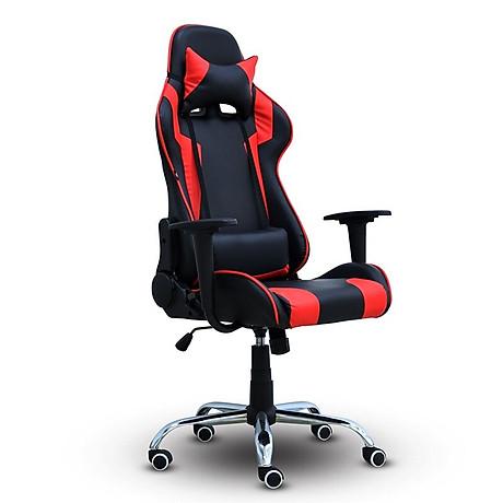 BG Ghế chơi game Mẫu E01 (Red Black) chân xoay 360 độ, ngả 165 độ (hàng nhập khẩu) 1