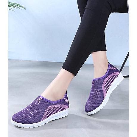 Giày lười nữ phong cách êm chân thoáng khí (full size full box) - chữ V - Size 36 đến 40 - V124 3