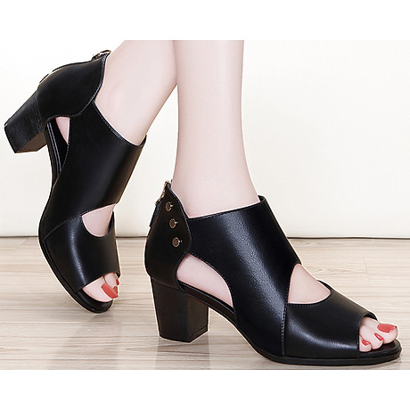 Giày Boots Cao Cổ Nạm Kim Loại Monte 5