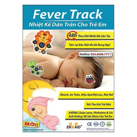 Combo 03 Vỉ Nhiệt Kế Dán Trán Cho Trẻ Em Fever Track 4