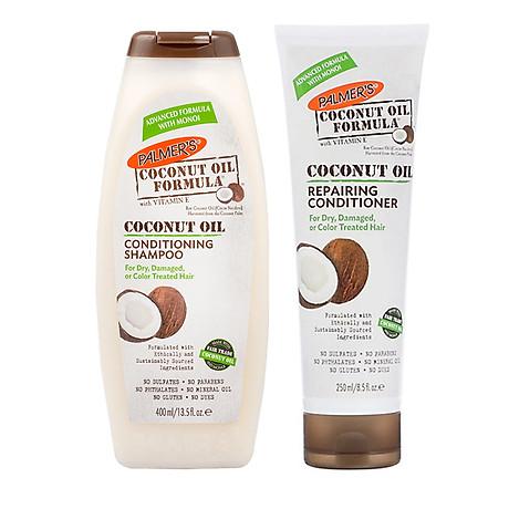Dầu gội và dầu xã dưỡng ẩm, phục hồi và kích thích mọc tóc từ dừa Palmer s Coconut Oil Formula 1