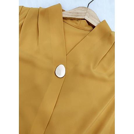 Áo sơ mi công ở kiểu áo sơ mi nữ xếp ly kèm phụ kiện ROMI 3099 4