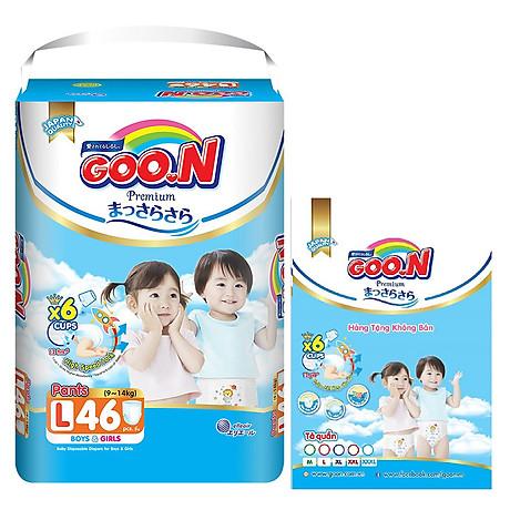 Tã Quần Goo.n Premium Gói Cực Đại L46 (46 Miếng) - Tặng thêm 8 miếng cùng size 1