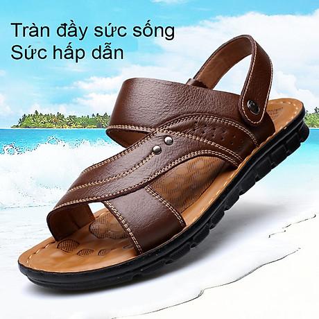 Giày Sandal phong cách thời trang Nhật Bản đế mềm chất liệu da bò thật phù hợp với các mùa trong năm mã 12129 5
