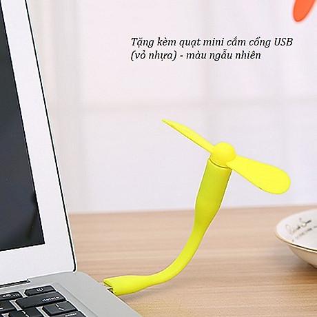 Hộp đựng bút kiêm đồng hồ để bàn V1 hình vuông (Tặng kèm quạt mini cắm USB vỏ nhựa giao màu ngẫu nhiên) 5