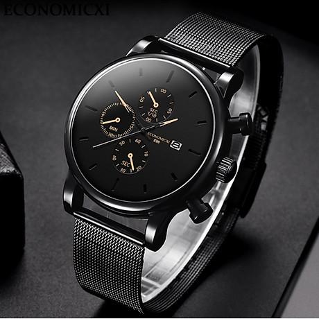 Đồng hồ nam business VINIEL thiết kế economicxi chất liệu dây thép phong cách thanh lịch VE118 Hàng Chính Hãng 7