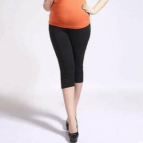 Quần legging nữ cho người mập chất cotton dáng lửng đến 75kg 2
