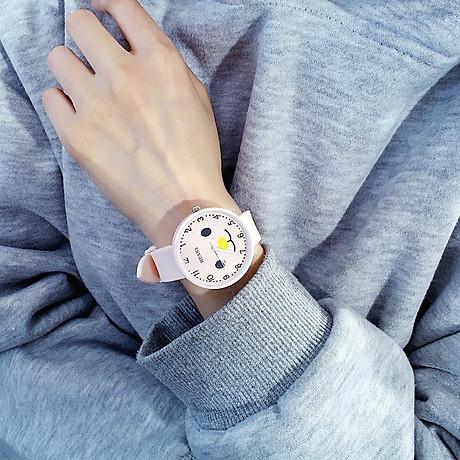 Đồng hồ thời trang nam nữ Huans Hmc1. hình mặt cười dây silicon. 7