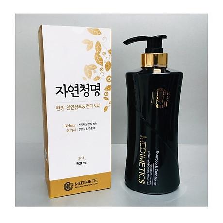 Dầu gội và dầu xả thảo dược Hàn Quốc N&C MEDIMETICS Herbal Shampoo & conditioner 500ml 1