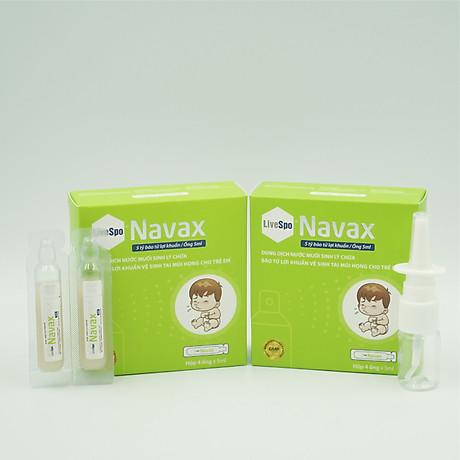 Bào tử lợi khuẩn Livespo Navax xịt tai mũi họng kháng viêm, diệt khuẩn hộp 1 xịt kèm 1 ống cho trẻ 6