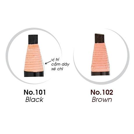Chì mày xé Suri Eyebrow Pencil Hàn Quốc No.101 Black tặng kèm móc khoá 2