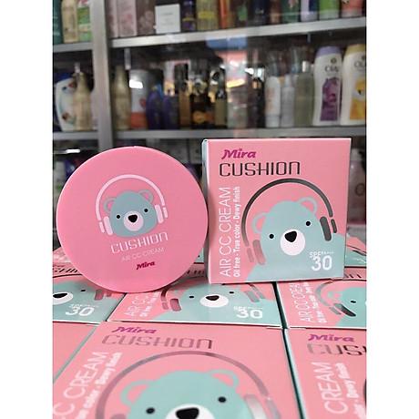 Phấn nước mỏng mịn Mira Cushion Air CC Cream Hàn Quốc 15g tặng kèm móc khoá 4