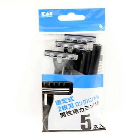 Hàng Nhật - Set 5 dao cạo 2 lưỡi kép KAI 2