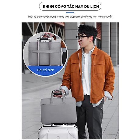 Túi đựng Laptop, túi xách Macbook dành cho công sở, văn phòng, chống nước, đựng vừa laptop 15,6 inch, nhiều ngăn 7