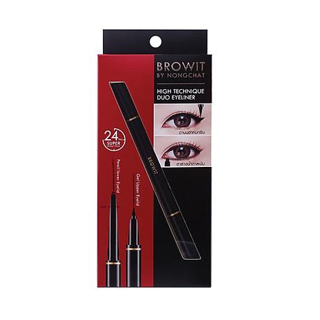Bút kẻ mắt hai đầu HighTechnique Duo Eyeliner 0.5ml+0.14g 6