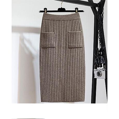Chân váy bút chì chất len tăm cao cấp form chuẩn kèm quần lót chất thun lạnh ko ngấn 1