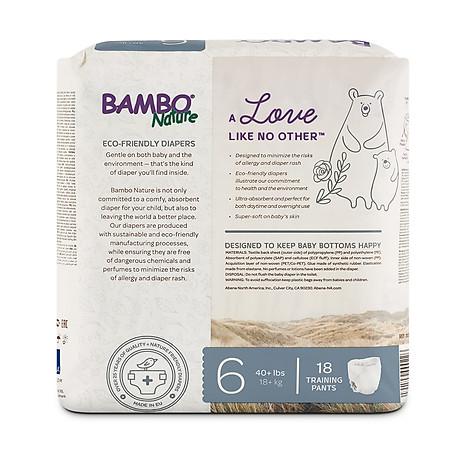Tã Quần Em Bé Hữu Cơ Bambo Nature - gốc Đan Mạch - 18 kg - XXL18 - 18 miếng 3