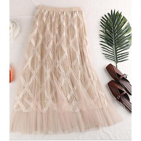 Chân váy ren Tutu ren thừng sang trọng hàng cao cấp VAY20 Free size 1
