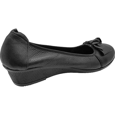 Giày Đế Xuồng 3cm Da Bò Thật Cực Mềm Đẹp Đơn Giản Sang Trọng, Cổ Chun Ôm Chắc Chân 3P0316 6