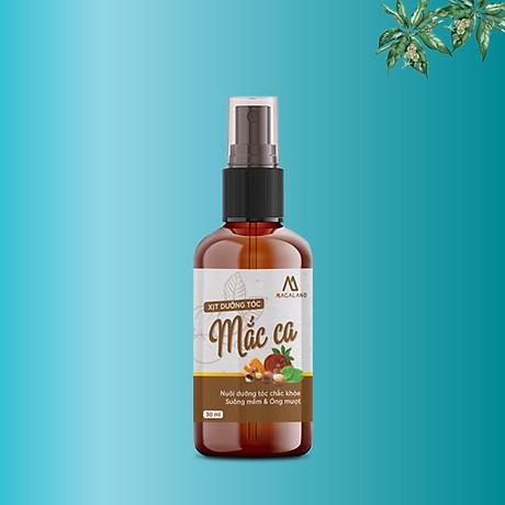 Xịt dưỡng tóc Macadamia 30ml MACALAND công dụng nuôi dưỡng và phục hồi mái tóc bồng bềnh, giảm xơ rối không gây bết dính hương thơm nhẹ nhàng hàng chính hãng công ty, xuất xứ Việt Nam 2
