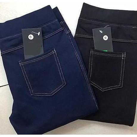 Quần Legging lửng thun giả Jeans cao cấp 5
