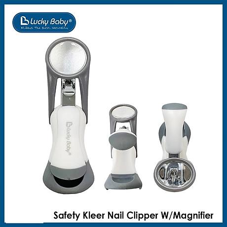 Bấm cắt móng cho bé có kính lúp Lucky Baby - Safety Kleer Nail Clipper W Magnifier 609439 3