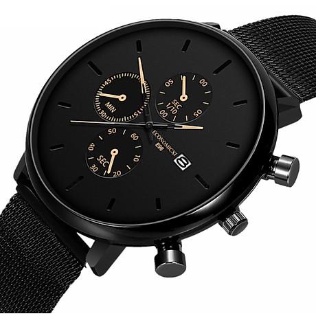 Đồng hồ nam business VINIEL thiết kế economicxi chất liệu dây thép phong cách thanh lịch VE118 Hàng Chính Hãng 3