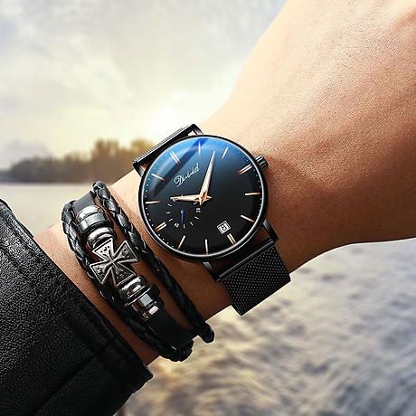 Đồng hồ nam cao cấp DIZIZID Dây Titanium Chạy Full 3 Kim Và Lịch Ngày - High Fashion Design DIZ3KD9 5