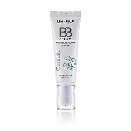 Kem nền cho da dầu kiểm soát dầu che khuyết điểm trắng da chống nắng không gây dị ứng Beauskin Centella CiCa BB Cream, HQ 45ml 1