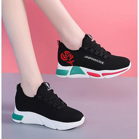 Giày sneaker thể thao nữ buộc dây phong cách hàn quốc màu đen, trắng size 36 đến 40 V179 1