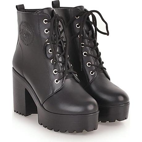 Giày Boot Đen Gót 7 Phân 2