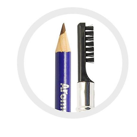 Chì vẽ mày sắc nét Aroma Eyebrow Pencil Hàn Quốc No.22 Black Brown tặng kèm móc khoá 3