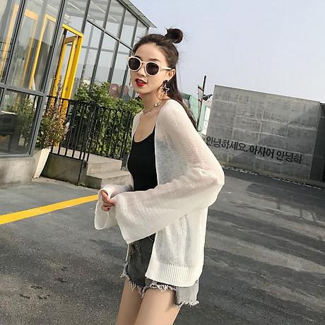 Áo Khoác Cardigan Nữ Len Mỏng Dệt Kim Siêu Hot 1