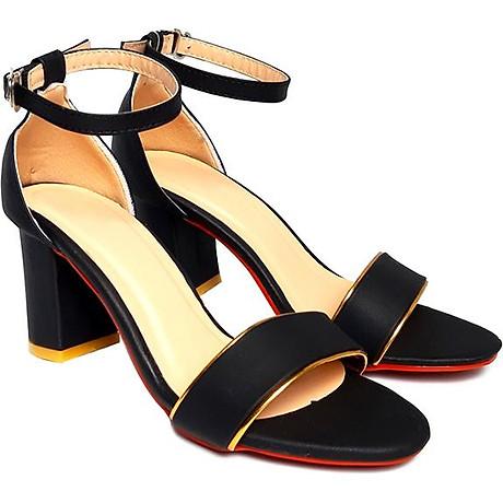 Giày cao gót đế vuông thời trang T263K335 - Đen 1