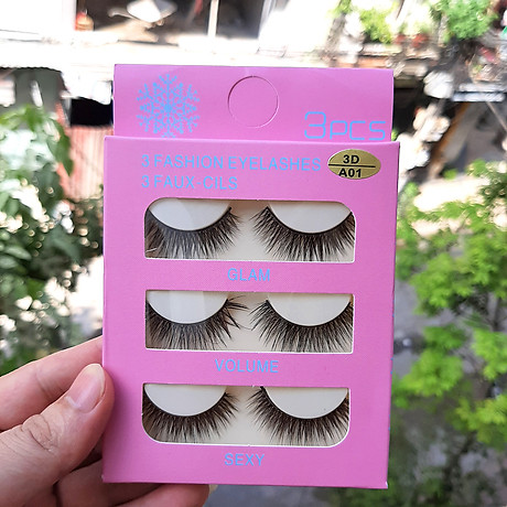 Mi giả 3 Fashion Eyelashes 3 Faux - Cils (kiểu mi 3D A01) 3