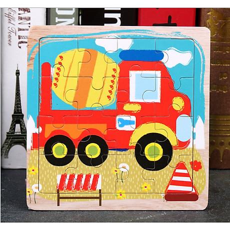 Combo Tranh ghép hình 16 miếng bằng gỗ cho bé tặng kèm bấm móng tay hình thú siêu dễ thương và tiện dụng 6