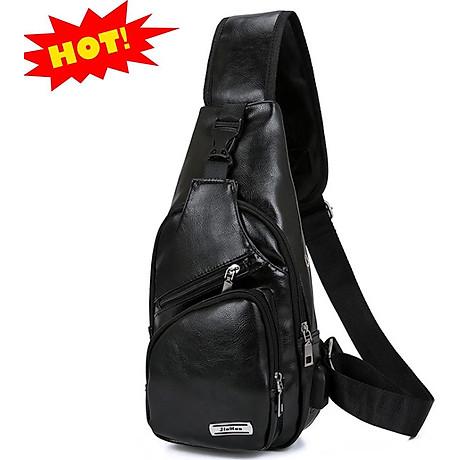 Túi đeo chéo nam da PU tiện dụng-đen 7