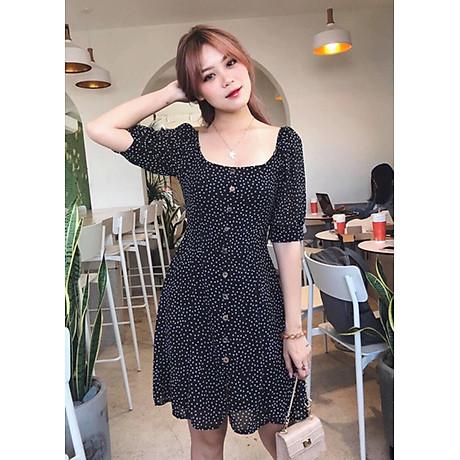 Đầm Bi Cổ Vuông - Đen (Free Size) 3