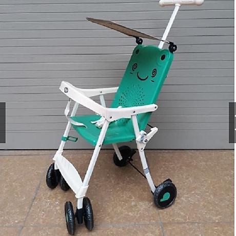 Xe đẩy du lịch (có mái che, phanh chân, bảo hiểm, túi đồ)- màu cho bé trai- chọn màu ngẫu nhiên 1