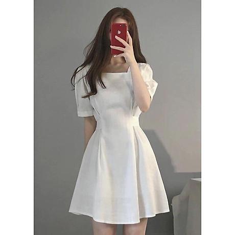 Đầm cổ vuông form ngắn thắt nơ 2
