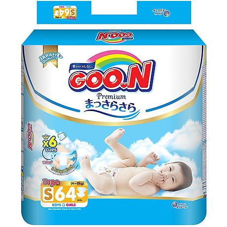 Tã Dán Goo.n Premium Gói Cực Đại S64 (64 Miếng) - Tặng thêm 8 miếng cùng size 2