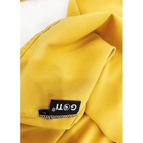 Áo sơ mi nữ cổng sở kiểu áo cột nơ cổ chữ v tay lật GOTI 3091 5