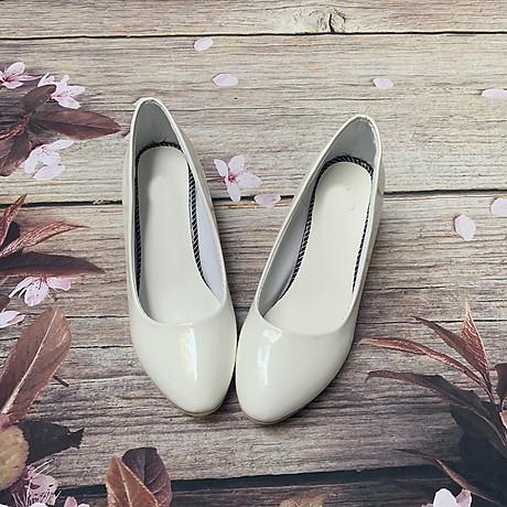 Giày nữ bít mũi đế xuồng cao 5cm kiểu trơn da bóng mềm nhẹ C14n có ảnh thật 5