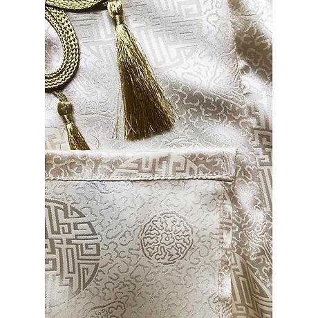 Set Áo Dài Cách Tân Gấm Nữ Đính Họa Tiết Nổi Phối Phụ Kiện Đẹp Kèm Chân Váy ROMI 3170 6