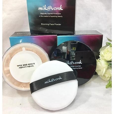 Phấn phủ bột kiềm dầu Mik vonk Blooming Face Powder Hàn Quốc 30g NB23 Skin Beige tặng kèm móc khoá 3