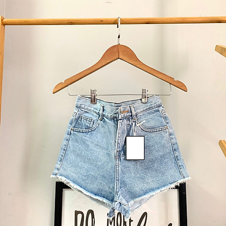 Quần short nữ chất jean cotton lưng cao M06 Julido, thời trangg trẻ trung một màu họa tiết trơn phối rách tua co dãn nhẹ có 3 kích thước 7