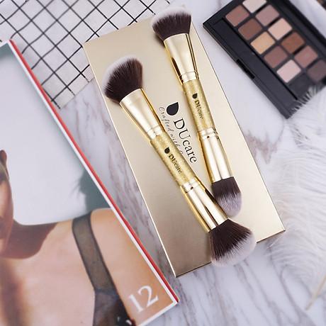 Combo cọ trang điểm DUcare 2 PCS Double-ended Makeup Brushes Foundation Powder Contour Brush 4