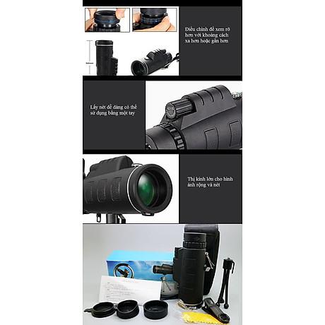 Ống nhòm kẹp điện thoại chụp ảnh một mắt 40X60 (Tặng kèm miếng thép đa năng 11in1) 5